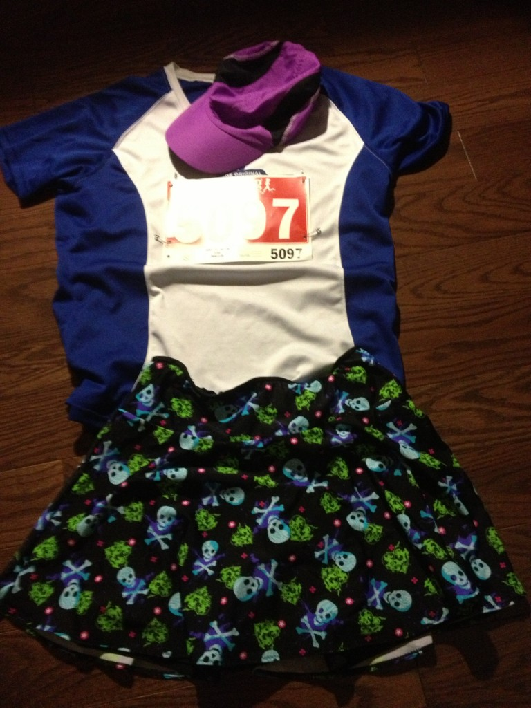 flat runner; and the skirt is awesome