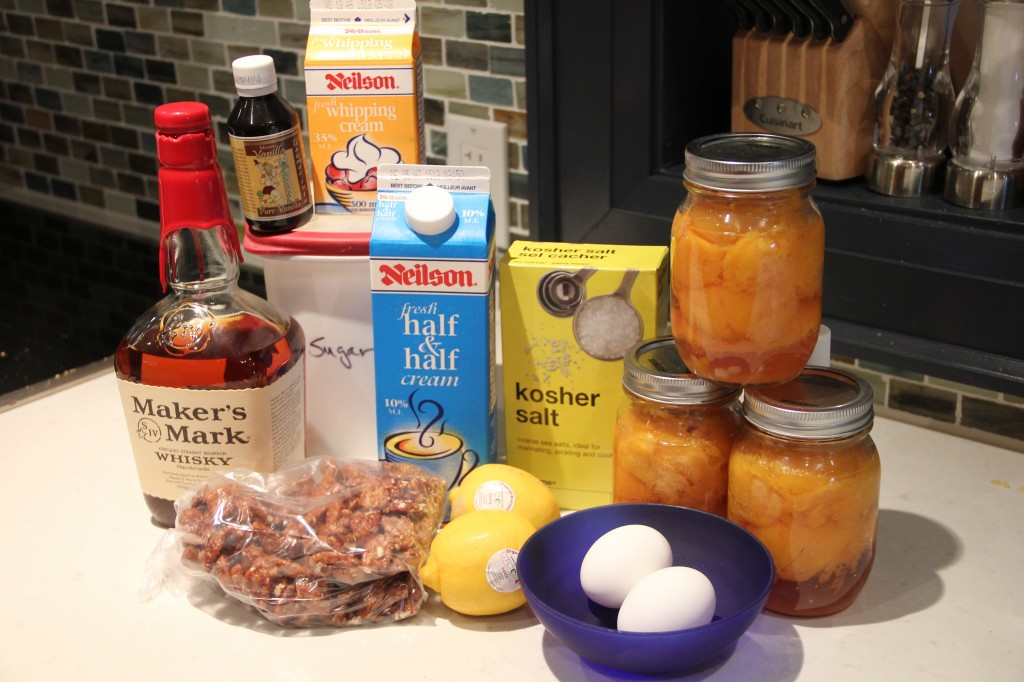This will be peach bourbon walnut ice cream....(wiping drool off chin)