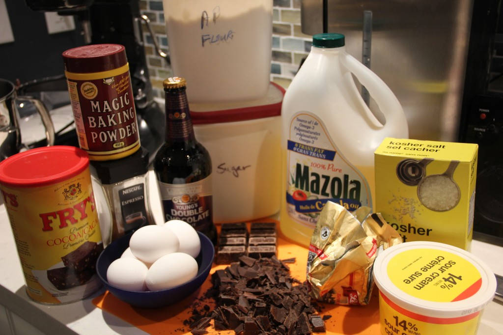 This will be chocolate stout cake
