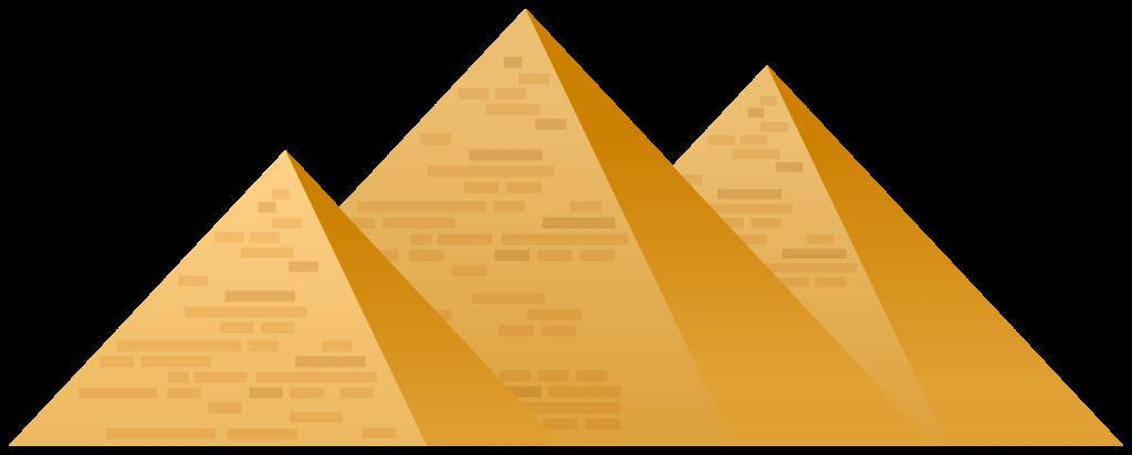 picture of three generic pyramids